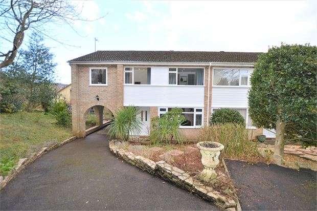 4 Bedrooms Semi Detached House for sale in Keyberry Close, Decoy, Newton Abbot, Devon. TQ12 1DA