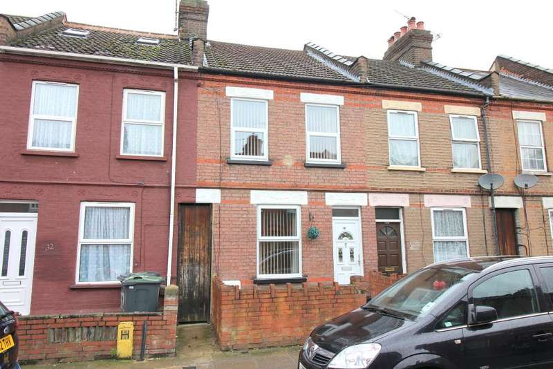 2 Bedrooms Terraced House for sale in Newcombe Road, Luton, Bedfordshire, LU1 1LH