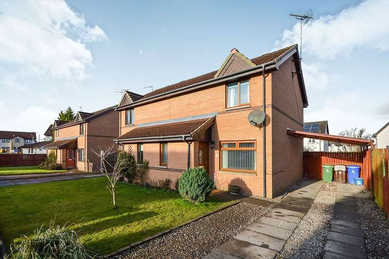 2 Bedrooms Semi Detached House for sale in Flint Crescent, Cowie, Stirling, FK7