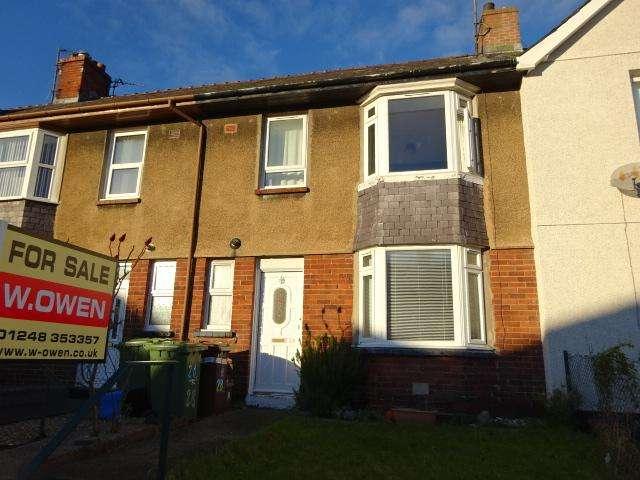 3 Bedrooms Terraced House for sale in LON OGWEN, BANGOR LL57