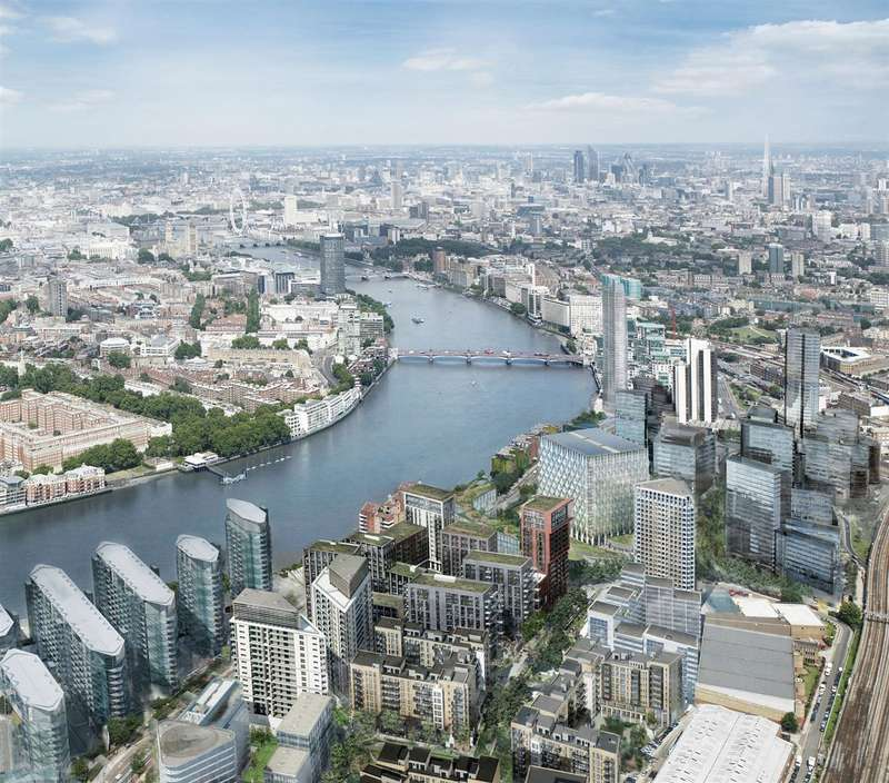 2 Bedrooms Flat for sale in Madeira Tower, Ponton Road, Nine Elms, London SW11