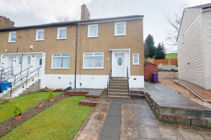 2 Bedrooms End Of Terrace House for sale in Carna Drive, Simshill, Glasgow, G44 5BE