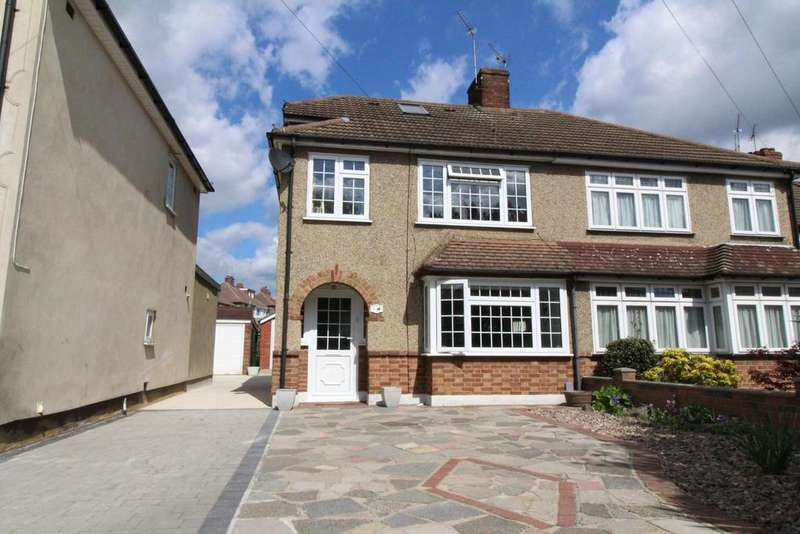 4 Bedrooms Semi Detached House for sale in Nightingale Avenue, Upminster, Essex, RM14