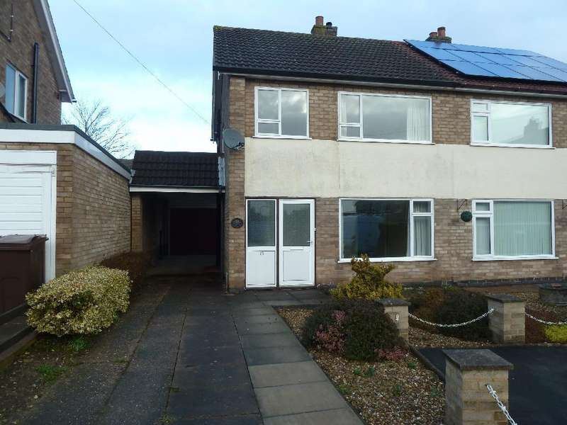 3 Bedrooms Semi Detached House for sale in Browning Close, Melton Mowbray