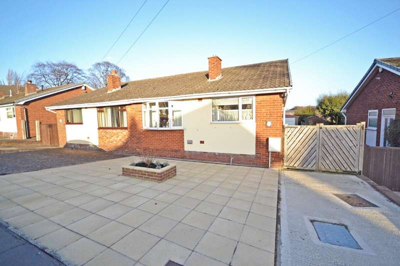 2 Bedrooms Semi Detached Bungalow for sale in Cumbrian Way, Lupset Park, Wakefield