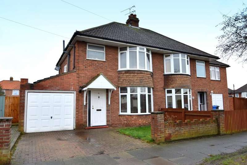 3 Bedrooms Semi Detached House for sale in Willowcroft Road, Ipswich, IP1 6BT
