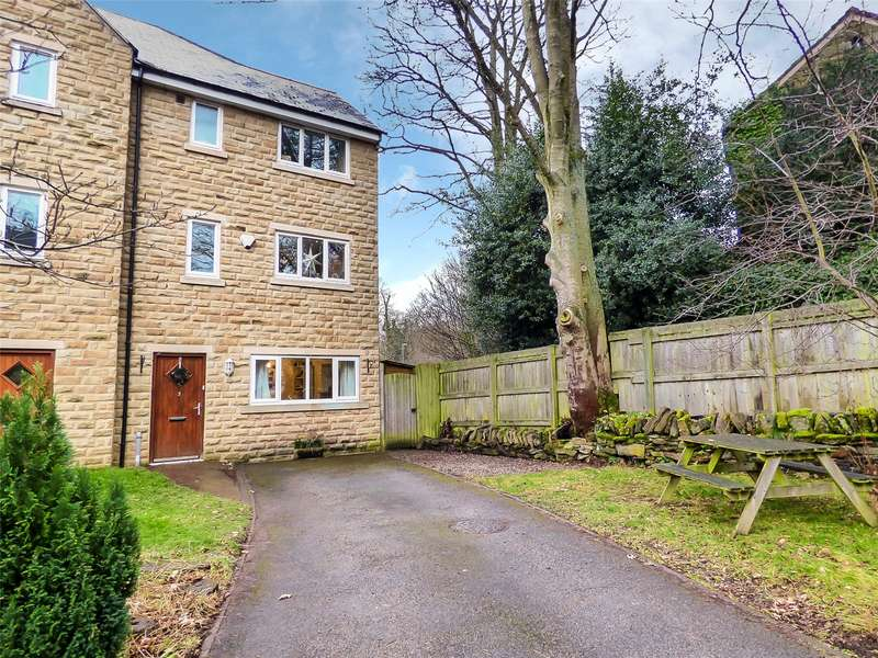4 Bedrooms Semi Detached House for sale in The Waterside, Thongsbridge, Holmfirth, West Yorkshire, HD9