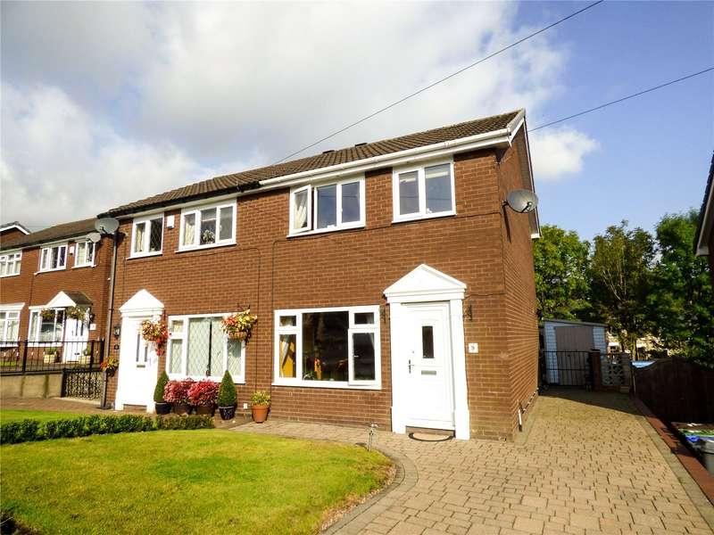 3 Bedrooms Semi Detached House for sale in Barngate Drive, Mossley, Ashton-under-lyne, Lancashire, OL5