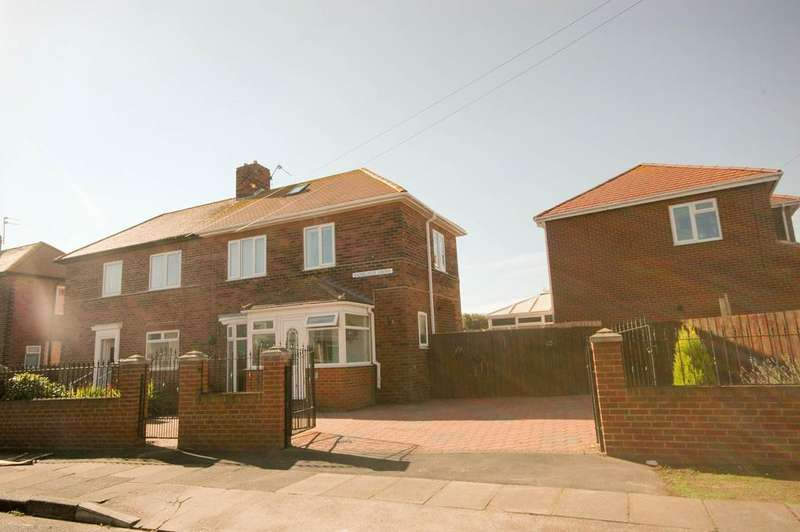 3 Bedrooms Semi Detached House for sale in Bamburgh Grove, South Shields
