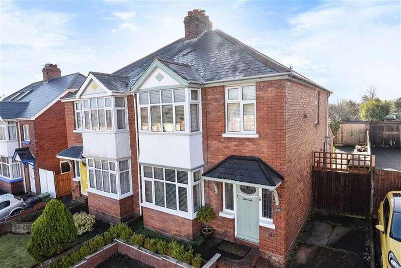 3 Bedrooms Semi Detached House for sale in Pinhoe Road, Exeter, Devon, EX4