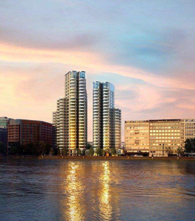 3 Bedrooms Flat for sale in The Corniche, Tower Two, Albert Embankment, London, SE1