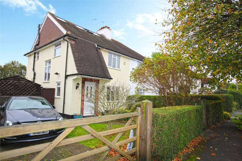 4 Bedrooms Semi Detached House for sale in Petersham Avenue, Byfleet, Surrey, KT14