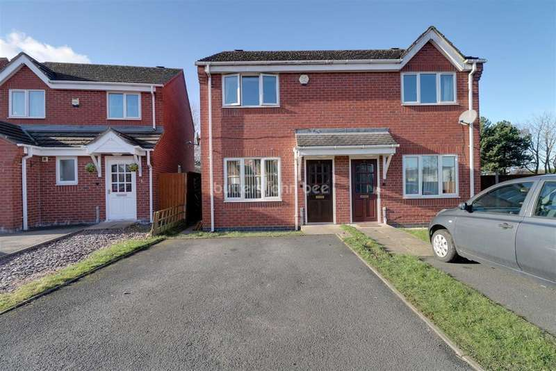 2 Bedrooms Semi Detached House for sale in Lodge Coppice, Donnington