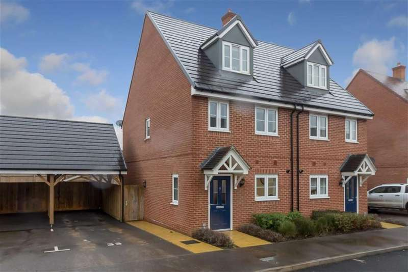 3 Bedrooms Semi Detached House for sale in Herdwick Close, Kingsnorth, Ashford