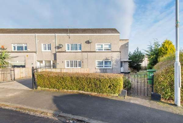 2 Bedrooms End Of Terrace House for sale in 20 Craigmuir Crescent, Penilee, Glasgow, G52 4AY