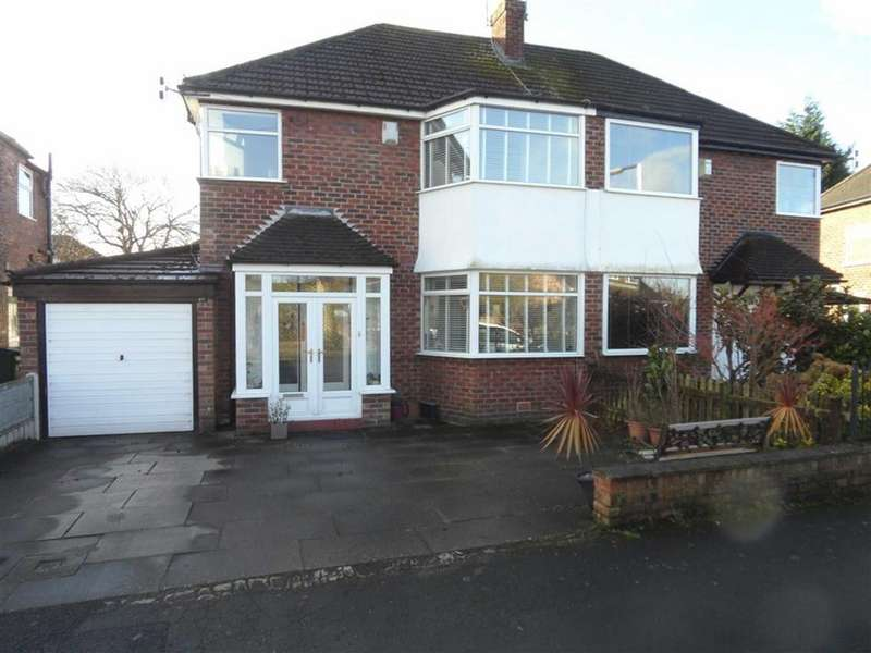 3 Bedrooms Semi Detached House for sale in Greenway Road, Heald Green