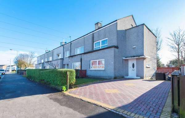 2 Bedrooms End Of Terrace House for sale in 19 Gleddoch Road, Penilee, Glasgow, G52 4BE