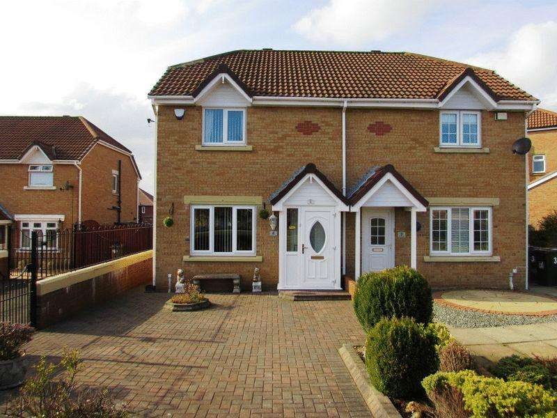 3 Bedrooms Semi Detached House for sale in Amberley Close, Wallsend - Three Bedroom Semi-Detached House
