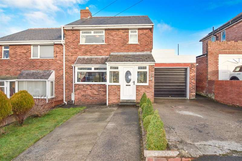 3 Bedrooms Semi Detached House for sale in Hillgarth, Consett, DH8 9QD