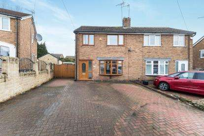 3 Bedrooms Semi Detached House for sale in Broomfield Avenue, Hasland, Chesterfield, Derbyshire