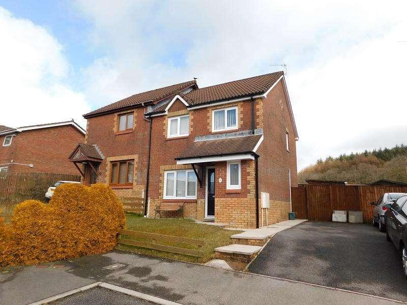 3 Bedrooms Semi Detached House for sale in Cae Rhedyn , Rhos, Pontardawe, Swansea.