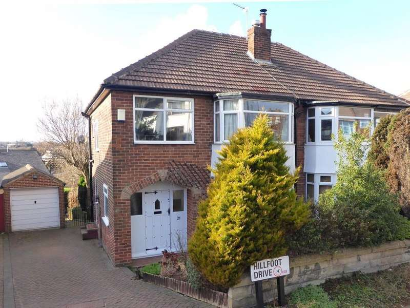 3 Bedrooms Semi Detached House for sale in Hillfoot Drive, Pudsey