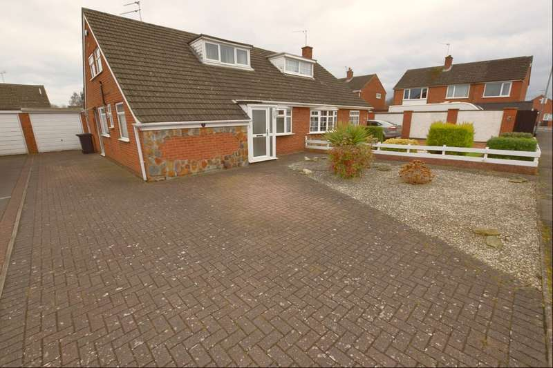 2 Bedrooms Semi Detached Bungalow for sale in Russett Way, Birstall, Leicester, LE4
