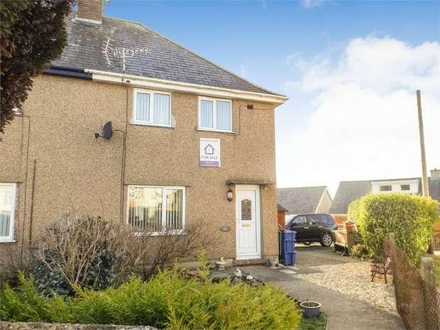 3 Bedrooms End Of Terrace House for sale in Cremlyn, Bethel, Caernarfon, Gwynedd