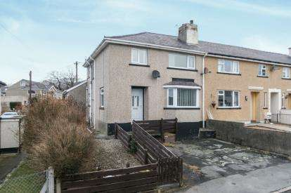 3 Bedrooms End Of Terrace House for sale in Maes Coetmor, Bethesda, Gwynedd, LL57