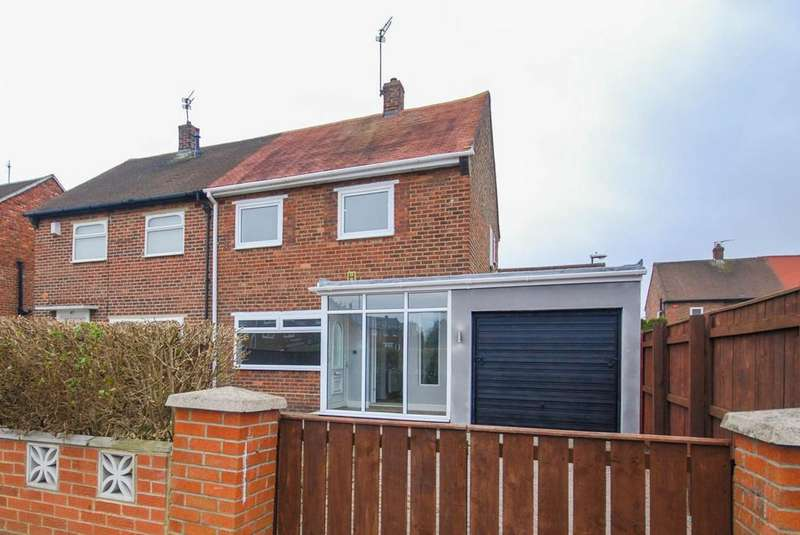 2 Bedrooms Semi Detached House for sale in Johnston Avenue, Hebburn