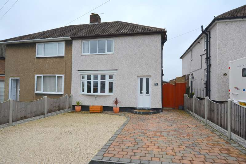 2 Bedrooms Semi Detached House for sale in Burnbridge Road, Old Whittington, Chesterfield, S41