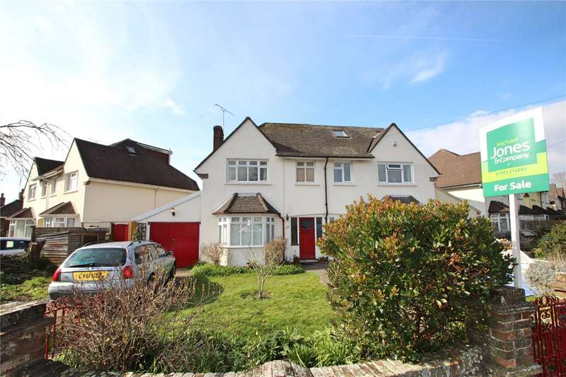 3 Bedrooms Semi Detached House for sale in Offington Drive, Worthing, West Sussex, BN14