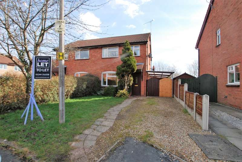 3 Bedrooms Semi Detached House for rent in Bluebell Close, Huntington, Chester