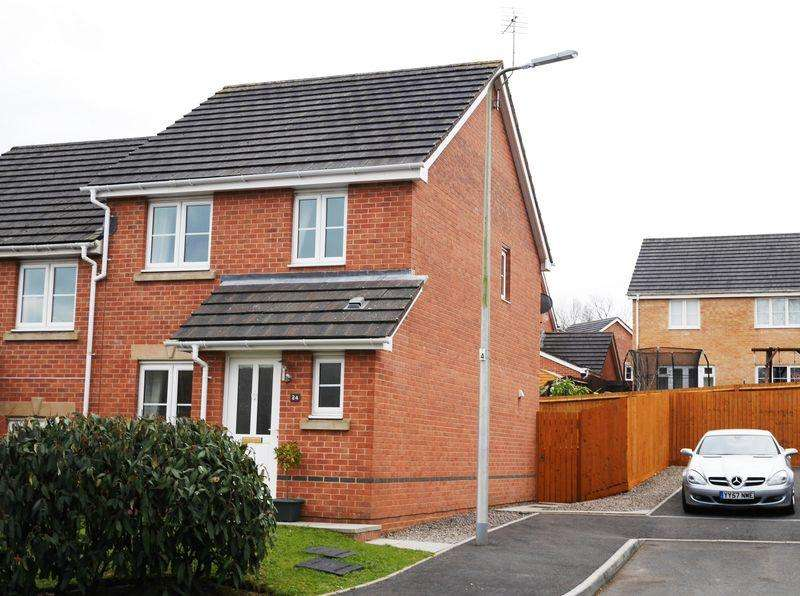 3 Bedrooms Semi Detached House for sale in Heritage Way, LLANHARAN CF72 9WD