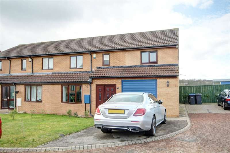 4 Bedrooms Semi Detached House for sale in Farnham Close, Newton Hall, Durham, DH1