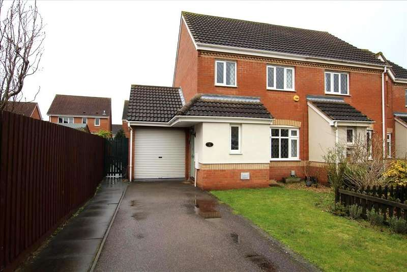3 Bedrooms Semi Detached House for sale in Berkeley Close, Biggleswade, SG18
