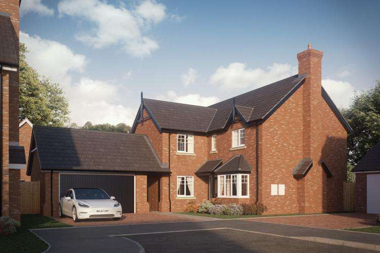 4 Bedrooms Detached House for sale in Plot 13, The Exeter, Abbots Lea, Hadnall SY4 4AG