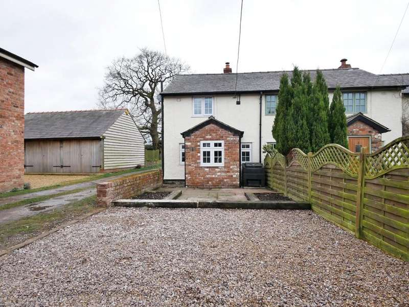 2 Bedrooms Semi Detached House for sale in 1 Woodbine Cottages, Tarporley, CW6 9UR