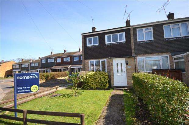 3 Bedrooms End Of Terrace House for sale in Southwark Close, Yateley, Hampshire