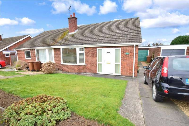 2 Bedrooms Semi Detached Bungalow for sale in Owen Crescent, Melton Mowbray, Leicestershire