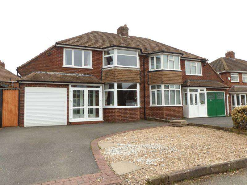 3 Bedrooms Semi Detached House for sale in Ferndale Road, Streetly