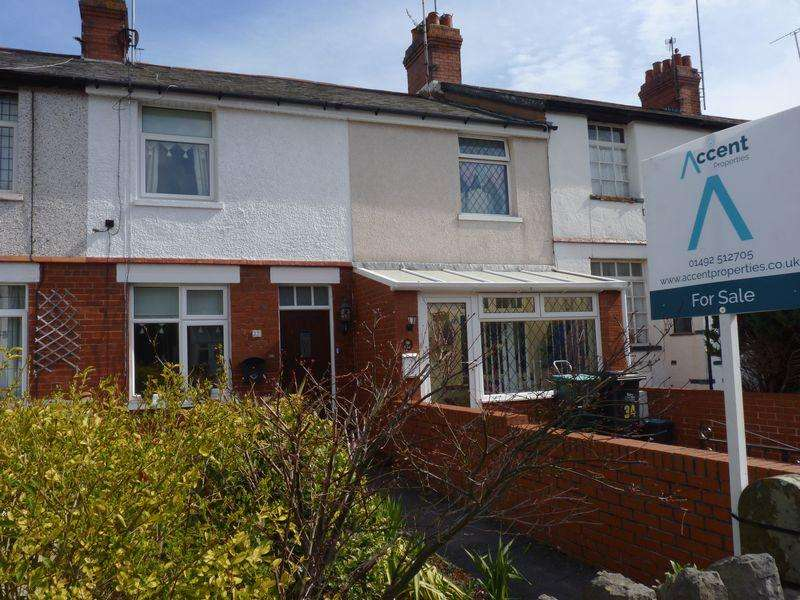 2 Bedrooms Terraced House for sale in 32, Coed Coch Road, Colwyn Bay