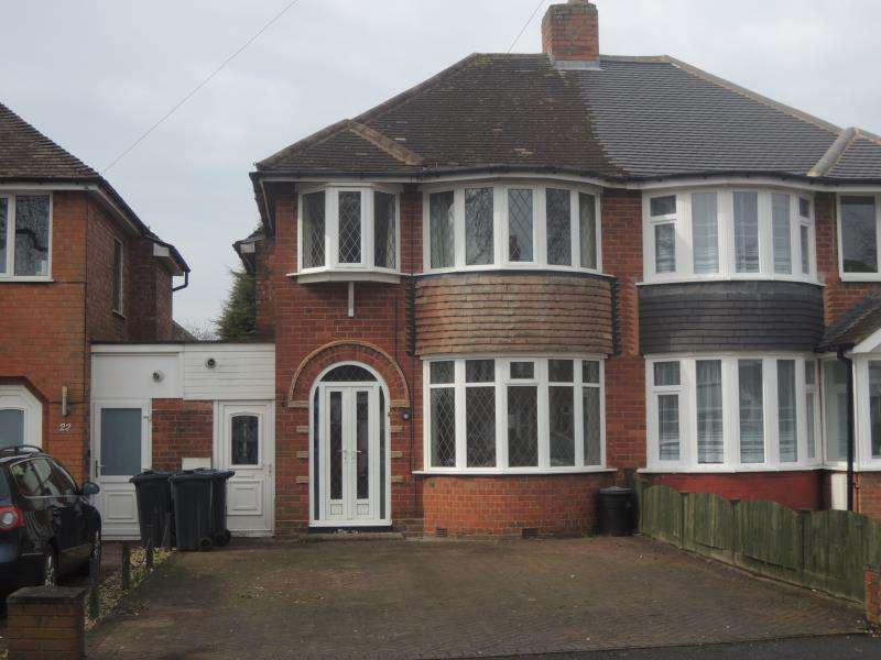 3 Bedrooms Semi Detached House for rent in George Road, New Oscott, Sutton Coldfield B73 5AW