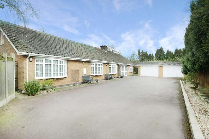 4 Bedrooms Detached Bungalow for sale in Links Road, Kirby Muxloe, Leicester