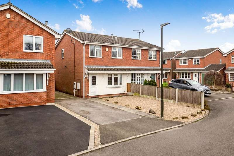 2 Bedrooms Semi Detached House for sale in Nightingale Close, Ripley, DE5