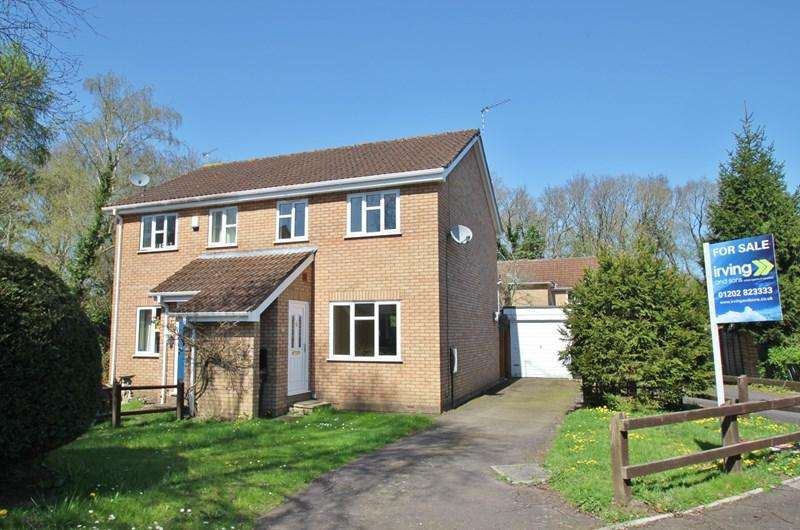 3 Bedrooms Semi Detached House for sale in Bay Close, Three Legged Cross, Wimborne