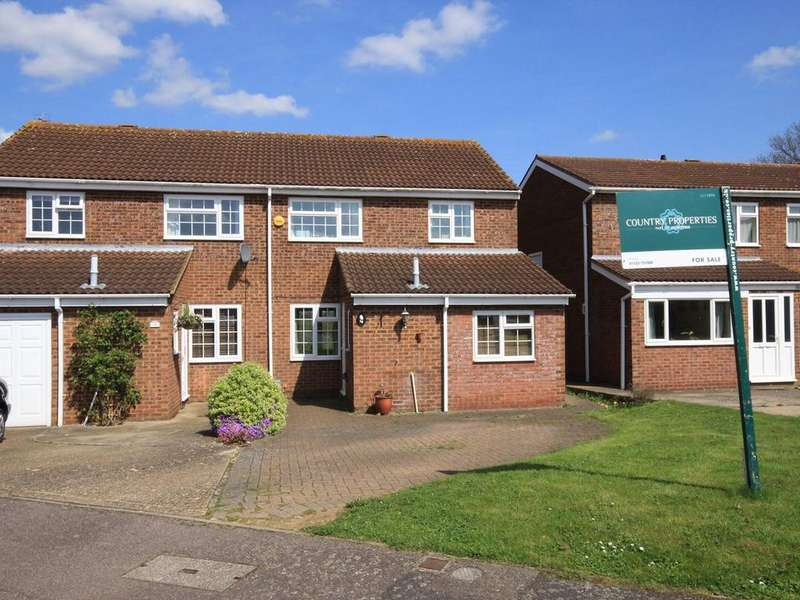 3 Bedrooms Semi Detached House for sale in Blackbird Close, Flitwick, MK45