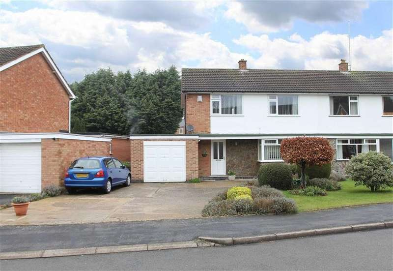 3 Bedrooms Semi Detached House for sale in The Morwoods, Oadby, Leicester