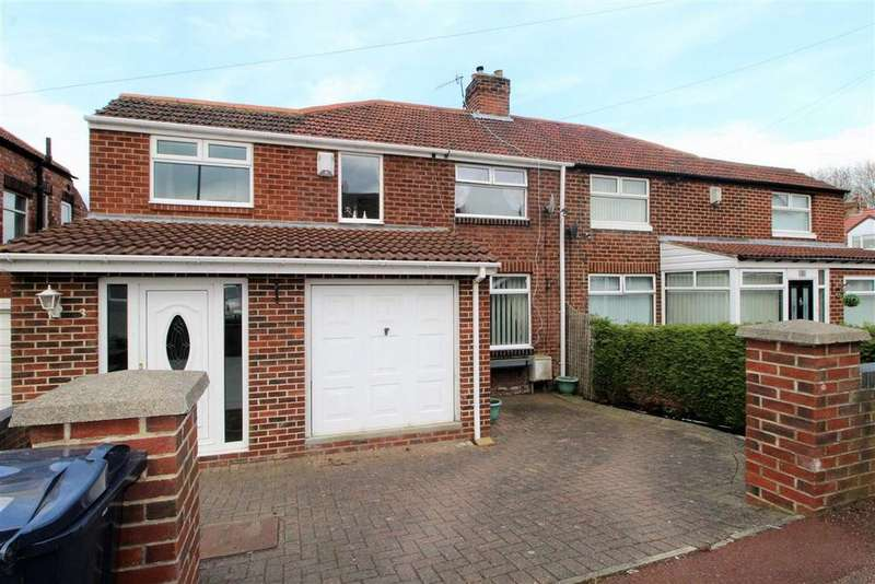 4 Bedrooms Semi Detached House for sale in Woodside Gardens, Dunston, Tyne And Wear