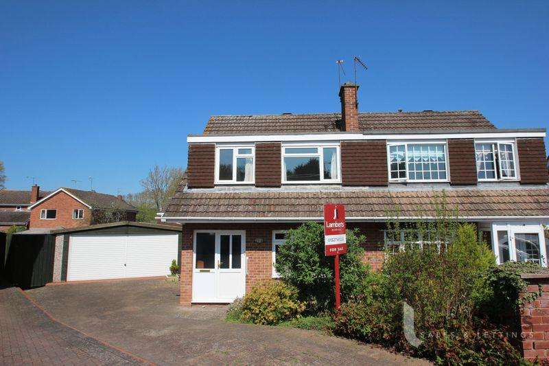 3 Bedrooms Semi Detached House for sale in Canterbury Close, Studley